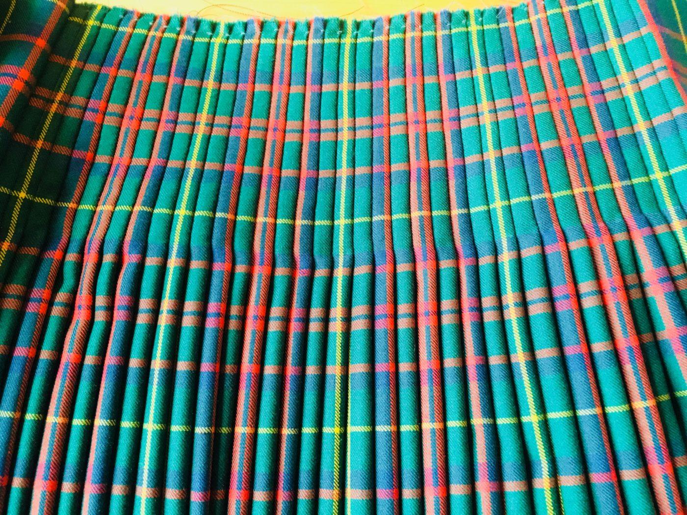 スコットランド人男性に依頼され結婚式用に作ったキルト