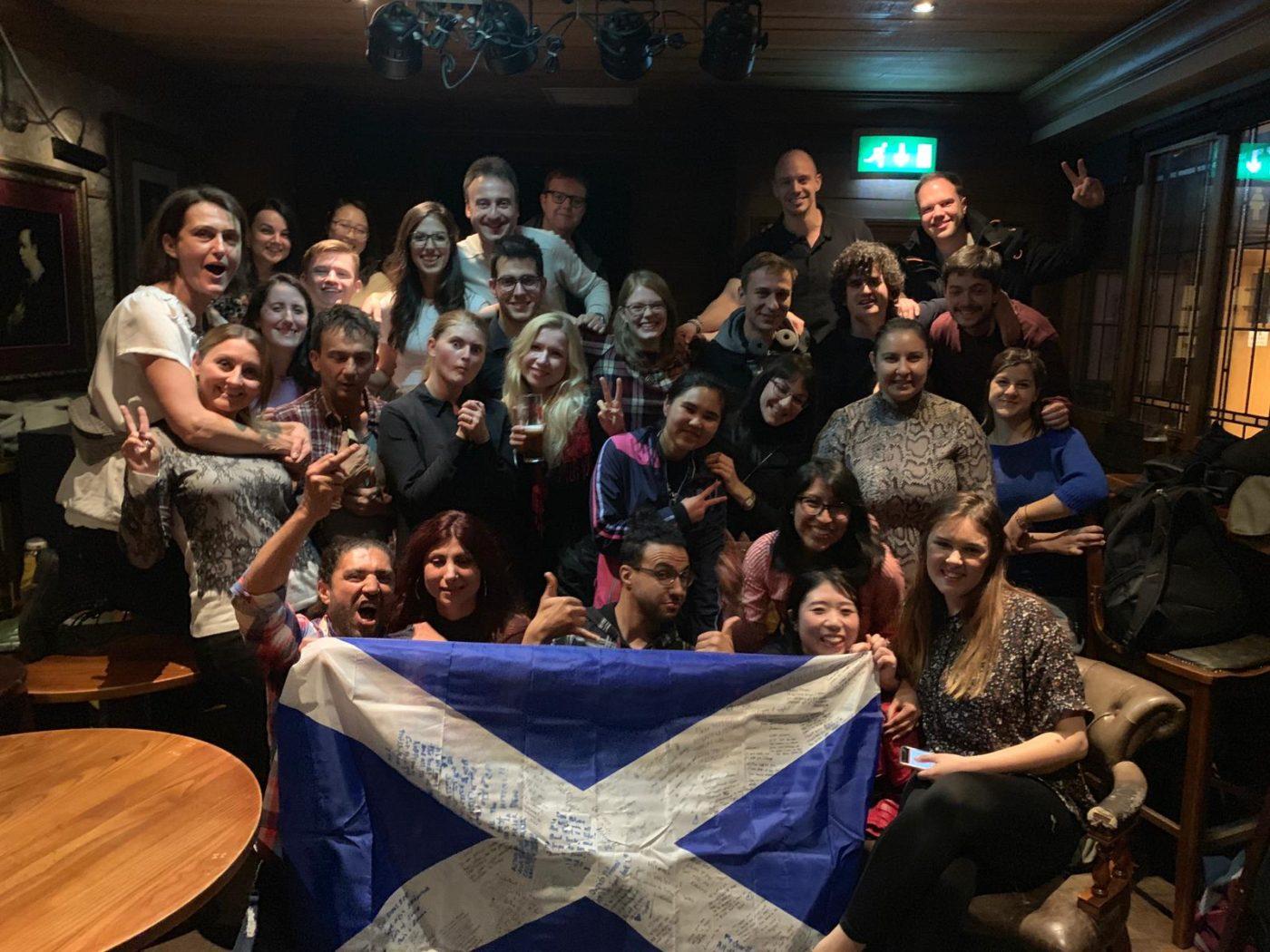 スコットランドを離れる前のお別れ会にて